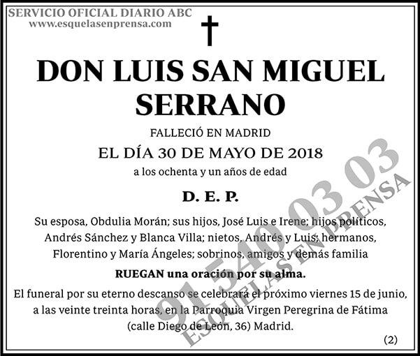 Luis San Miguel Serrano